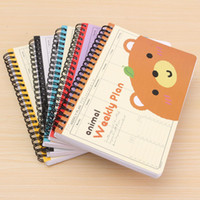 Wholesale 1PCS School Anime Notebook And Paper Cartoon Travel Diary Schedule Note Book Novelty Gift For Kid