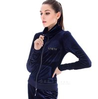 basketball drills - 2016Hot spring and autumn new European and American ladies suit women Slim models hot drilling wings gold velvet leisure sports suit