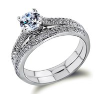 Cheap Women Luxury Cubic Zirconia Wedding Rings Lead Free Her and His Ring Nickel Free Free Postage