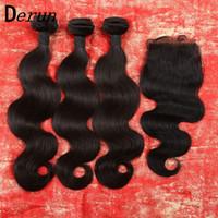 base closure - Silk Base Closure with Bundles Peruvian Indian Malaysian Brazilian Hair Bundles Unprocessed Remy Body Wave Virgin Hair Extensions
