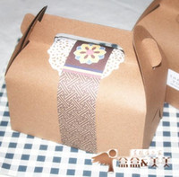 Wholesale Baking packaging carton Large cattle card portable west point cake packaging boxes