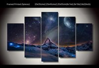 Wholesale Exotic northern lights wall arts for home decoration realist landscape Art HD Print Painting Canvas art Unframed