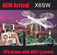 Wholesale 2016 X6sw WIFI Fpv Toys Camera rc helicopter drone quadcopter gopro professional drones with camera HD VS X5SW X600 Drone DHL