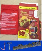 potato express - New Microwave Potato Cooker Just Minutes Popato Cooking Bag Steam Pocket Kitchen Gadget Tool Potato Express with package box MYY14783
