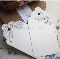 Wholesale DHL Hot Classic Floral DIY Unique Cards bookmarks paper swing tags hang tag