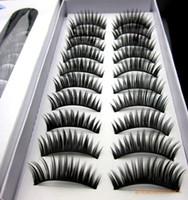 Wholesale 10 Pairs set Natural Handmade False Eyelashes Long Fake Thick Black False Eyelashes Charming Eye Lashes Voluminous Makeup