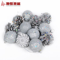 animal amp - Christmas pinecone cm silver pinecone amp ball gift bag g tree ornaments supplies natal snowflake crafts hanging party supplies