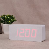 alarm clock outlet - Wooden clock factory outlets led large screen digital display clock electronic clock fashion living room bedroom alarm clock NZ
