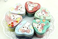 Bamboo metal box - New Vintage Heart shaped DIY Multifunction tea tins Metal storage clean up box mini jars
