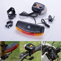 bicycle brake - 3 In1 Bike Bicycle LED Turn Tail Signal Brake Light Lamp Tune Horn Mount SV006585