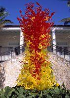 art deco glass sculpture - OEM Mouth Blown Borosilicate Glass Dale Chihuly Craft Villa Decoration Garden Art Deco Sculpture