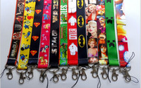 batman lanyard - New Mixed More style Avengers Superman Batman Despicable Me Minion mobile Phone lanyard Keychain straps charms