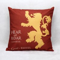 Wholesale Game of Thrones Linen Sofa Decorative Cushion Case Pillow Cover Sofa Home Decorative Square Pillow Case Cushion Cover quot War stars