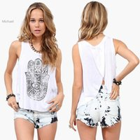 Cheap Hot Selling Women Tank Top Round Neck Cascading Back Loose Casual Tops Vest Blusa De Renda 4 Sizes 22