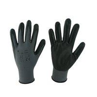 foam nitrile coated glove - 1212B Black foam nitrile coated gloves with nylon or polyester shell