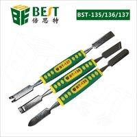 aluminum pry bar - 100pcs Mobile Phone Metal Spudger pry bar professional electronic hardware repair repairing opening tool For Smartphone