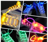 Wholesale 2th generation LED Flashing shoelace Lighting light up shoe laces Laser Shoelaces with retail package choose color
