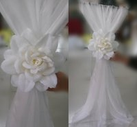 big lots chairs - 30 Pieces Chair Sash for Wedding with Big D Flowers High Quality Chiffon Wedding Decorations Cheap Chair Covers Wedding Accessories