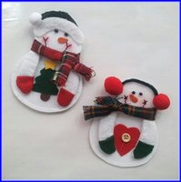 Cheap Christmas Tableware Bag Best Snowman Cutlery bag