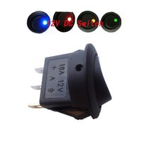 Wholesale LOT10 Car V Round Rocker Dot Boat Red Green Yellow LED Light SPST Toggle Switch ON OFF