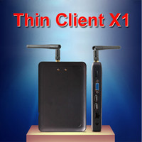 Wholesale X1 X1W Thin Client Mini PC Workstation with All winner A20 Dual core Ghz CPU Linux Windows support XP win7