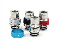 Electronic Cigarette aluminum air tanks - Milling Drip Tips Copper and Aluminum Wide Bore air control Drip EGO Atomizer Mouthpieces for E Cig Mechanical Mods protank Atty tank