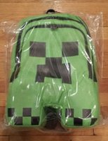 Wholesale New Minecraft Backpack Game My World Children School Bags Kids Boys Mochila Double Shoulder Bag Block Coolie Strange