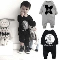 Wholesale Newborn Toddler Baby Boys Romper Jumpsuit One pieces Clothing Black Grey