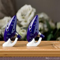 Wholesale 12 hole Hot Sell Cute Ocarina Musical Instruments Legend of Zelda Ceramic Materail Top Quality