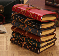 Wholesale Pirates of the imitation notebook loose leaf kraft paper notepads retro rope carry diary notes