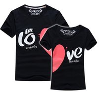 Wholesale Valentine clothing lovers T shirt Couple T shirt girl friend boy friend TEE T shirt HAPPY VALENTINE