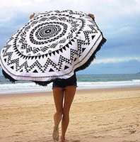 beach decor - 20 Types Cotton Round Beach Towel cm Bath Towel Tassel Decor Geometric Printed Bath Towel Summer Style