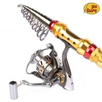 Wholesale Goture Portable Telescopic Spinning Fishing Rod with Reel Combos Carbon Fiber Generic DK3000 BearingsSpinning Fishing Reel