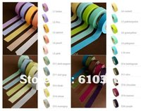 Wholesale Colors Selection mmx10m Japan washi solid tape office adhesive decorative masking tape