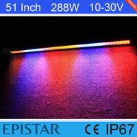 atv flash - 51 Inch W Epistar White Red Blue Flash LED Light Bar For Offroad Boat SUV ATV Truck