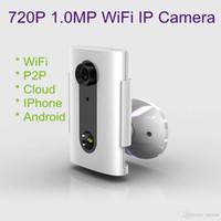 al por mayor cámara de seguridad en la nube-Mini cámara Onvif 2.0 cámara del CCTV 1.0MP 720P cámara del IP del wifi P2P nube Almacenaje del SD Seguridad del LED lente de la vigilancia 3.6mm
