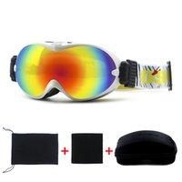 Wholesale High quality double layer anti fog skiing mirror sand windproof ski eyewear