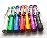 sporting good equipment - 50pcs best LED Mini Flashlight Aluminum Alloy Torch with Carabiner Ring Key Chain mini LED Flashlight good outdoor sports equipment