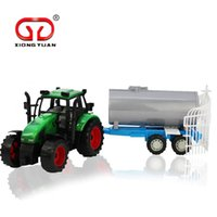 Cheap Large Size Simulation Farmer Sprinkler Truck With Wagon Children's Toy