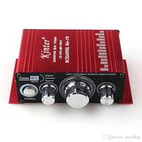 Wholesale Amplifier MA Mini Aluminum Alloy Channel W Hi Fi Stereo Home Car Amplifier Red DC V Handover Hi Fi Stereo CD DVD MP3 Input