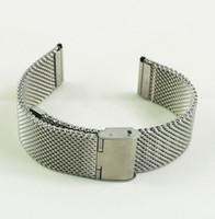 Wholesale Men s mm Stainless Steel Heavy Mesh Watch Strap Hidden Clasp Fashion Design Watch Bracelet