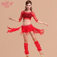 Cheap 2014 Belly dancing clothes 4 piece(top+dress+socks+strapless) danza vientre tribal free size costume indian dance indian clothes