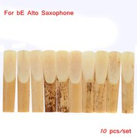 Wholesale 10pcs Sax Accessories Reed Bamboo for Eb Alto Sax Saxophone High Quality