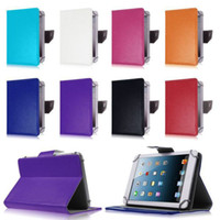 Cheap 2015 New 7 inch 9 inch Multi-color Leather Case Flip Cover Built-in Card Buckled Universal Leather Tablet Case for Tablet PC DHL 20pcs