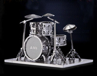 Wholesale 2015 Hot Sale New Arrival High Quality Diy d Metal Drum Set Model Assemble Miniature Diorama best Gift decoration On Sale
