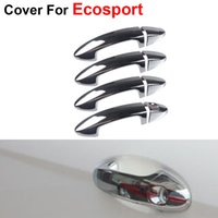 Wholesale 4pcs Fashion Stickers Cover ABS Door Handle For Ford Ecosport Accessories Newest Decoration Car Styling
