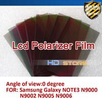 Cheap Wholesale-10pcs LCD Polarizer Film Polarization light Polaroid Film For Samsung Galaxy NOTE 3 N9000 N9002 N9005 N9006 FreeShipping