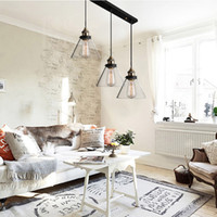 bedroom warehouse - LIXADA Retro Country Loft Pendant Light Glass Mental Warehouse Living Hall Bedroom Lamp Ceiling Vintage Pendant Lamp m Wire L0606