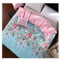 Wholesale 100 Twill Cotton Duvet Sets Colorful Rose Flowers Printing Duvet Cover Quilt Cover Comforter Cover Sizes Available Post