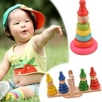balance shakes - 2015 Brand New Baby Toy Kids Educational Toys Wooden Shake Stacking Balance Stacking Toys For Children